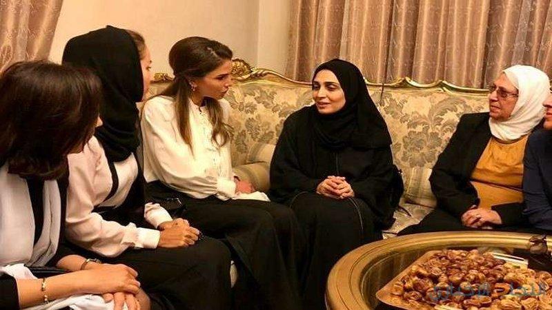 الملكة رانيا:مصاب الأسر المكلومة مصاب كل الأردنيين