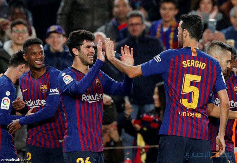 برشلونة ينتزع قمة الليغا مؤقتًا بفوزه على فياريال
