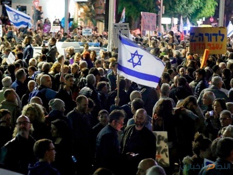 مستوطنو غزة يتظاهرون بعسقلان المحتلة