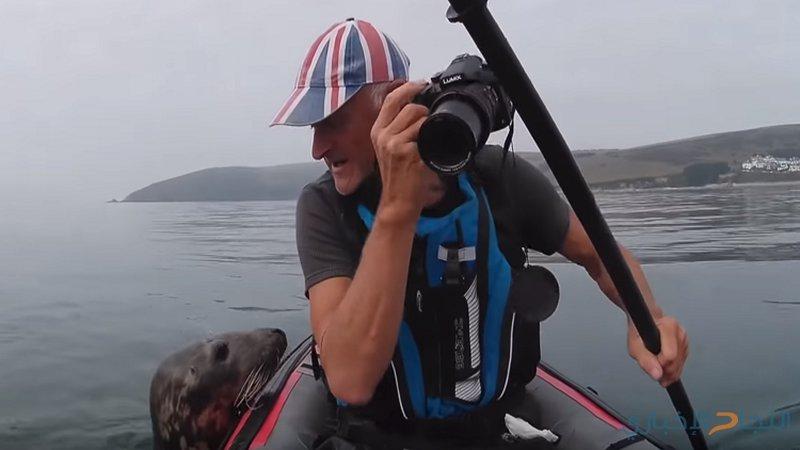 فقمة لطيفة تعشق السياح في بريطانيا! (فيديو)