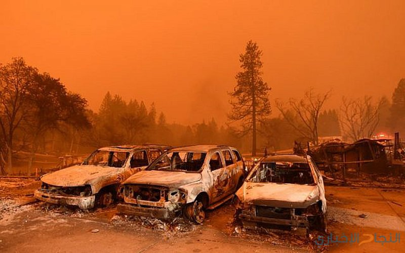 مقتل 5 أشخاص في حرائق الغابات في ولاية كاليفورنيا