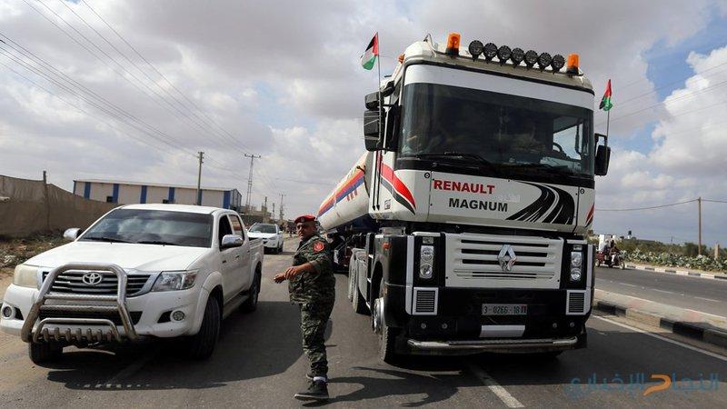 الاحتلال يسمح بدخول 14 شاحنة وقود لمحطة كهرباء غزة