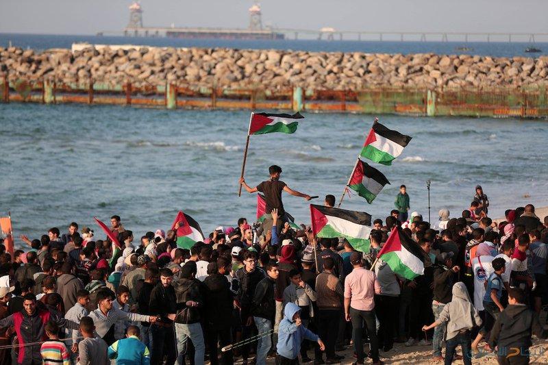 إصابات برصاص الاحتلال في المسير البحري شمال القطاع