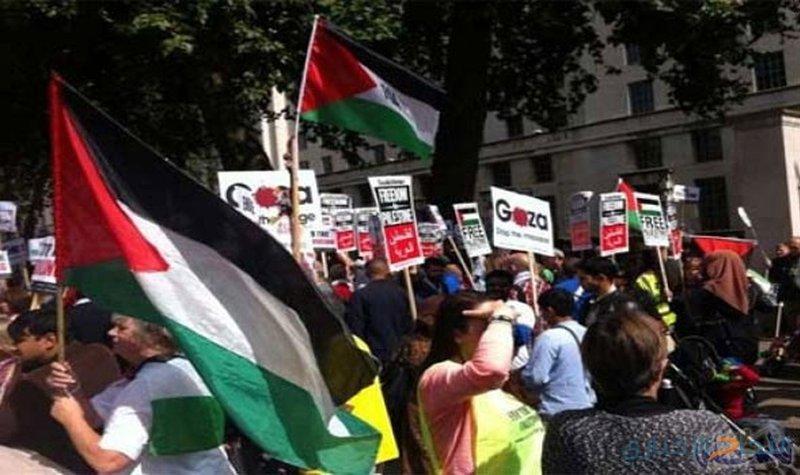 مسيرة في براغ تنديدا بانتهاكات الاحتلال المتواصلة