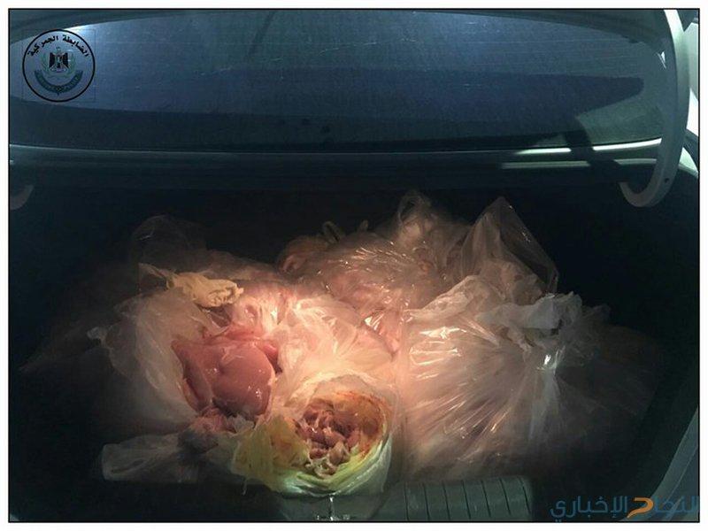 الضابطة تتلف 100كغم جناح دجاج وصدر حبش غير صالح للاستهلاك الآدمي في طولكرم