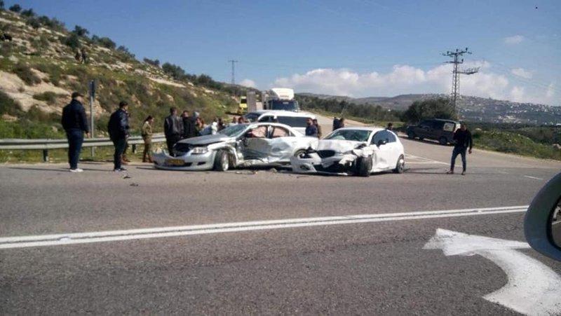 5 إصابات جراء حادث سير جنوب نابلس