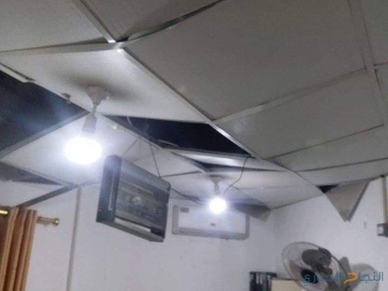 أضرار جسمية في ممتلكات المواطنين ومشفى الأندونيسي