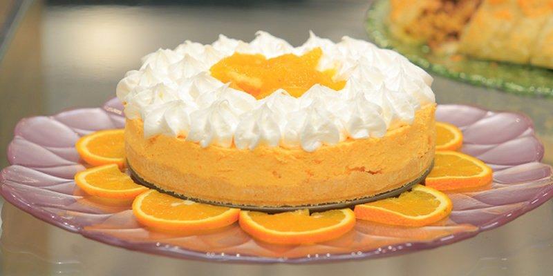 تشيز كيك البرتقال السهل