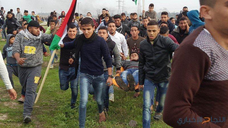 اصابتان برصاص الاحتلال شرق دير البلح
