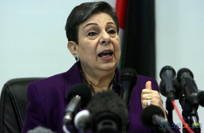 عشراوي تطلع وفودا دولية على آخر التطورات السياسية