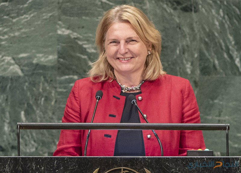 وزيرة خارجية النمسا تخاطب العالم بالعربية