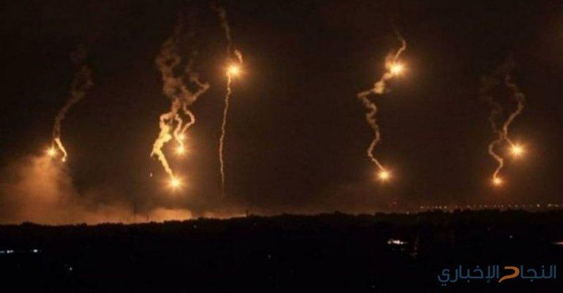 قوات الاحتلال تطلق قنابل إنارة شرق جباليا شمال غزة