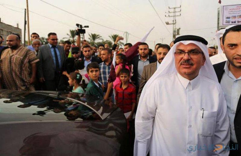 السفير العمادي يصل غزة عبر حاجز بيت حانون