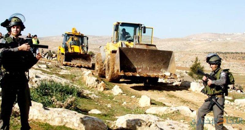 الاحتلال يجرف الطريق الواصل إلى قرية النبي صموئيل