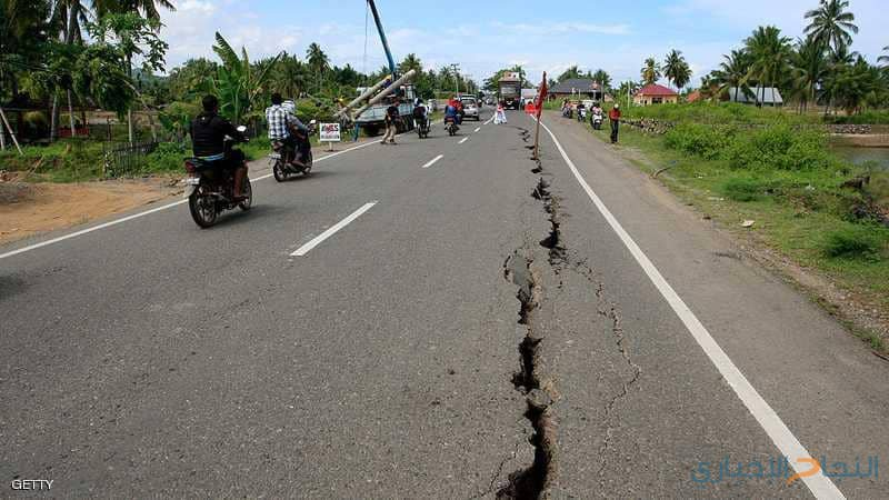 زلزال يضرب إندونيسيا بقوة 6.3 درجات