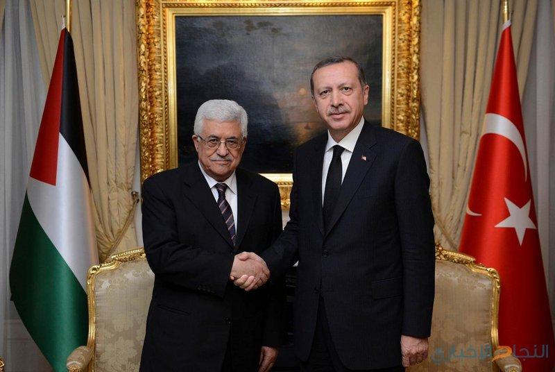 الرئيس عباس يلتقي نظيره التركي