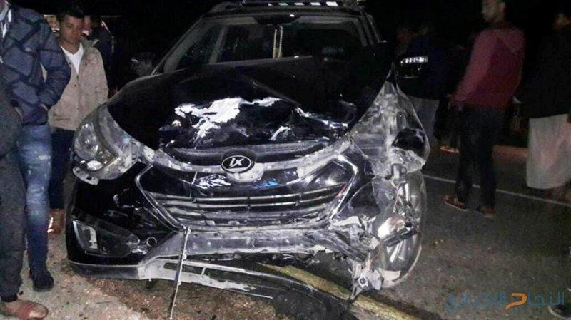 إصابة سبعة مواطنين في حادث سير شرق جنبن