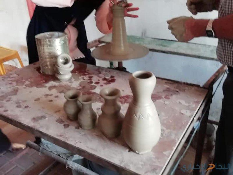 ثقافة جنين تنظم دورة لصناعة الفخار في يعبد