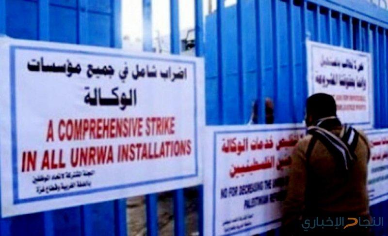"""""""الأونروا"""": غدا إضراب شامل في جميع المؤسسات"""