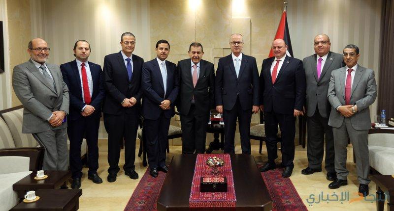 الحمد الله يستقبل محافظ البنك المركزي الأردني