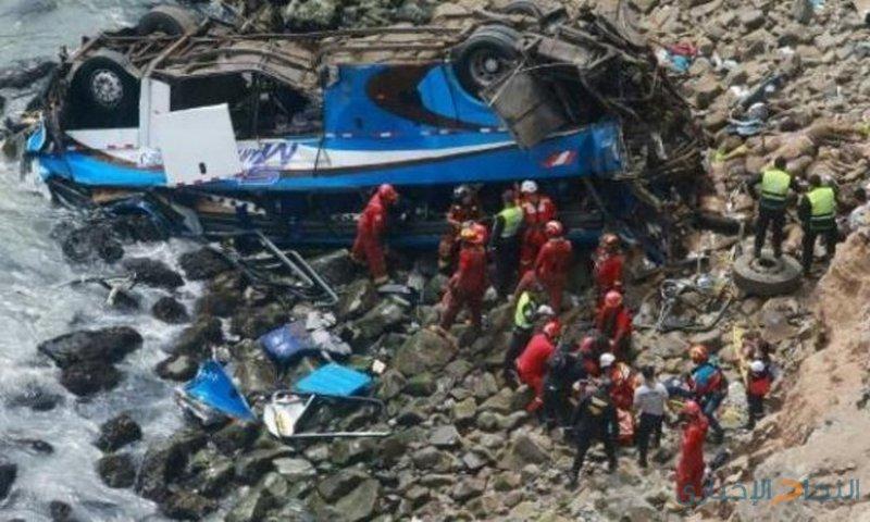 48 قتيلا في البيرو جراء تدهور حافلة