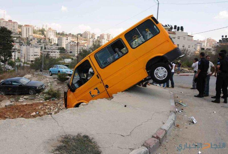 إصابة 5 أشخاص بينهم سيدة حامل بحادث سير