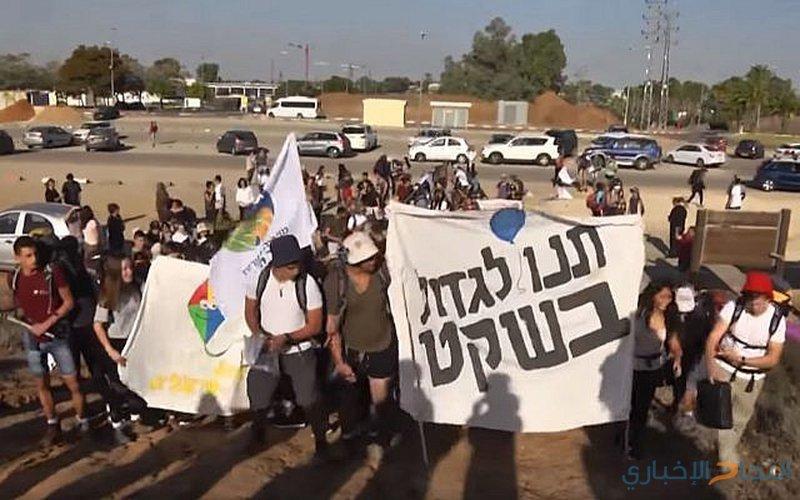 """مستوطنو """"غلاف غزة"""" يتظاهرون ضد الكنيست"""