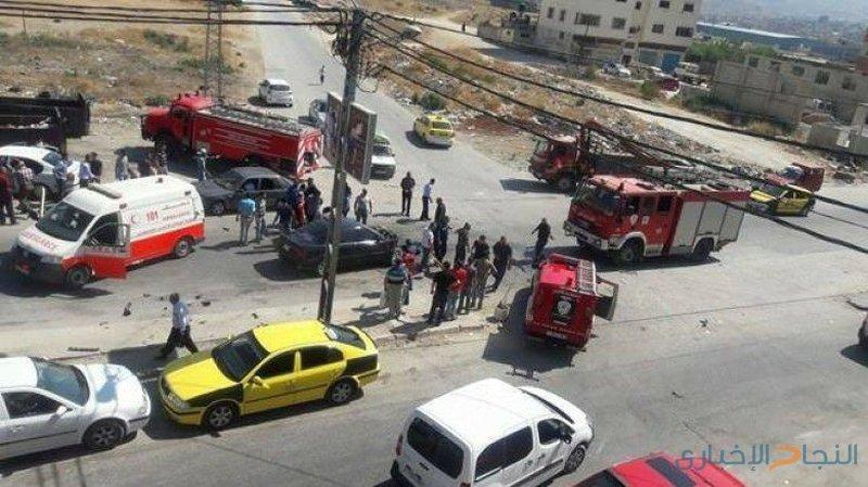 ثلاث إصابات بحادث تصادم غرب نابلس