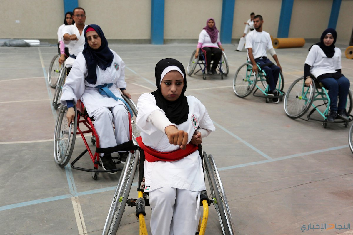ذوي الاحتياجات الخاصة يمارسون رياضة الكاراتيه