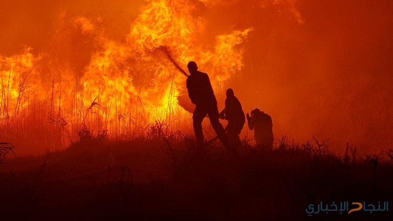 """الاحتلال يزعم اندلاع 4 حرائق في """"غلاف غزة"""""""