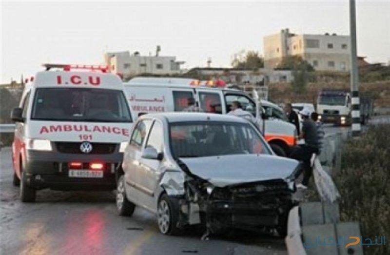 بالفيديو: إصابة 11 مواطنًا في حادثي سير منفصلين في نابلس