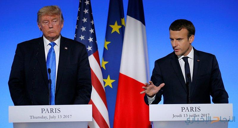 ماكرون وترامب يبحثان الأوضاع في سوريا