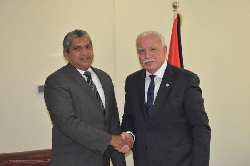 المالكي يودع ممثل سريلانكا لدى دولة فلسطين لمناسبة انتهاء مهامه