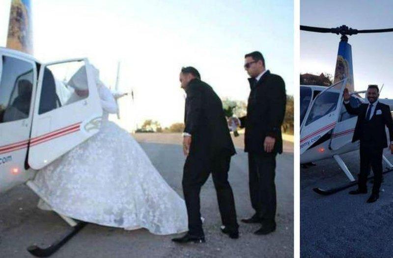 """أردني يزف عروسه بـ""""هليكوبتر"""".. ومغردون: فتحت علينا أبوابًا مغلقة"""