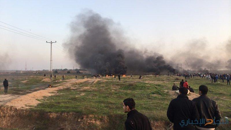 الصحة: إصابة 43 مواطنًا بالرصاص الحي والمعدني و65 استنشاقًا بالغاز في مواجهات غزة