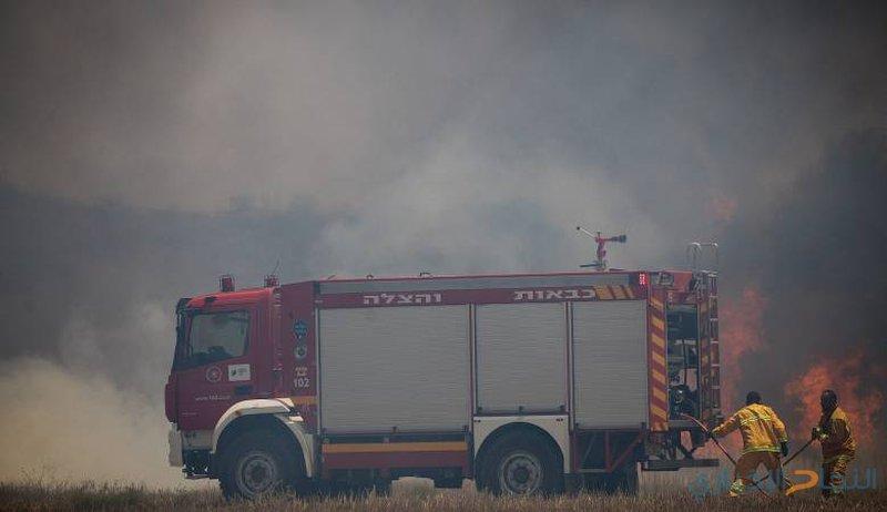 4 حرائق في مناطق غلاف غزة جراء البالونات الحارقة