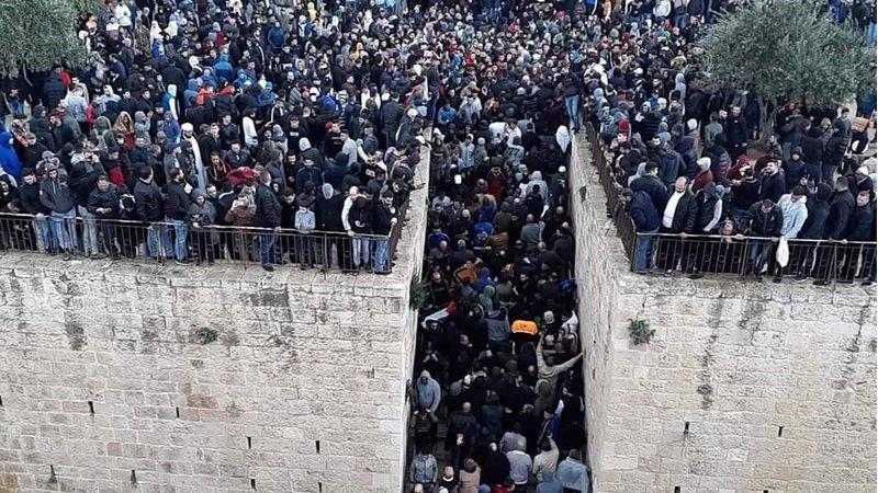 منذ بدء أحداث باب الرحمة...الاحتلال اعتقل 315 مقدسياً