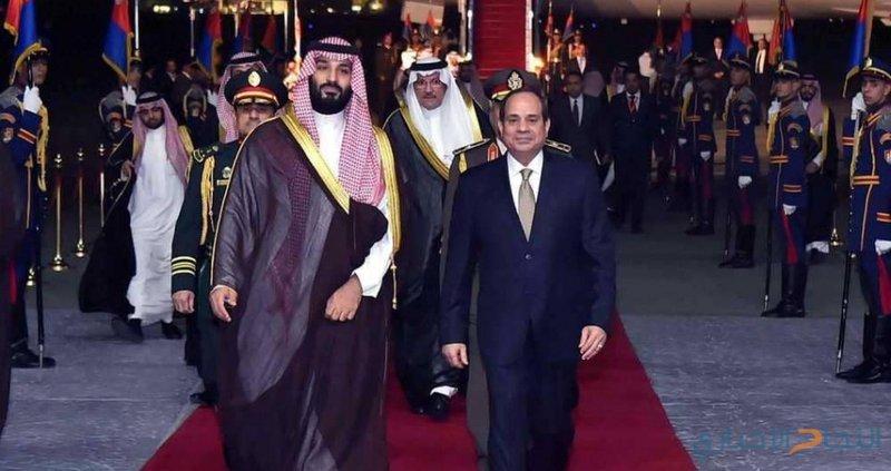 السيسي يستقبل بن سلمان في القاهرة