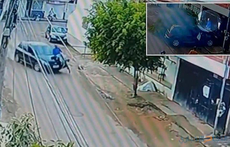 نجاة راكب درّاجة بأعجوبة من موت محقق!