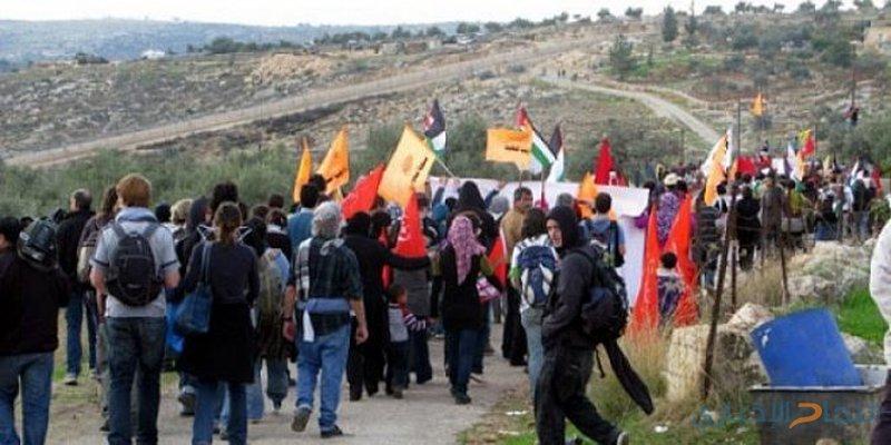 العشرات يشاركون في مسيرة نعلين الأسبوعية