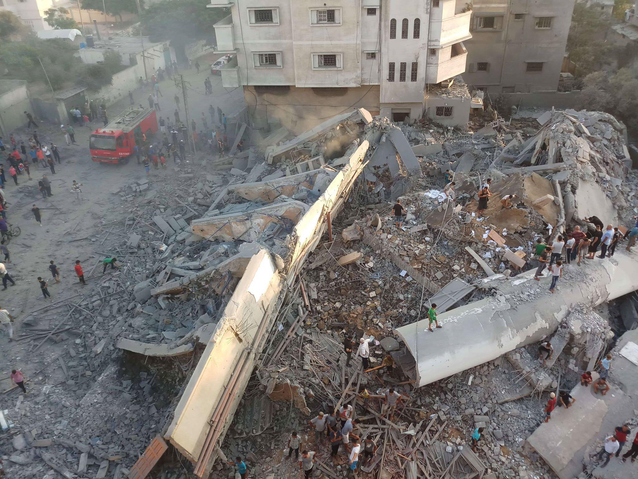 Image result for قصف مركز سعيد المسحال